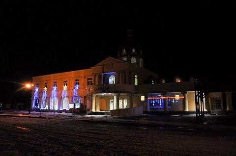 12月6日 滝上町 道の駅「香りの里たきのうえ」 イルミネーション点灯中