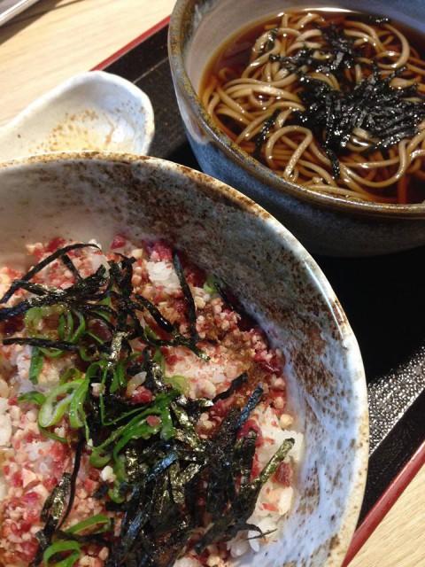 【先行情報】桜肉ユッケ丼とお蕎麦のセットなんて。。。登場予定