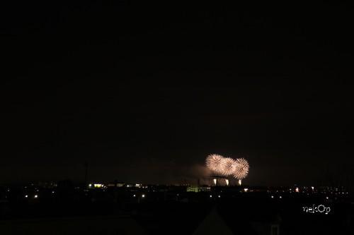 自由ヶ丘から撮った道新花火