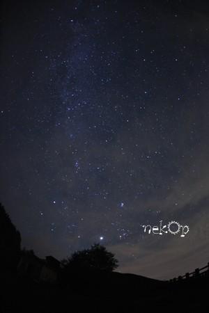 扇ヶ原展望台で星