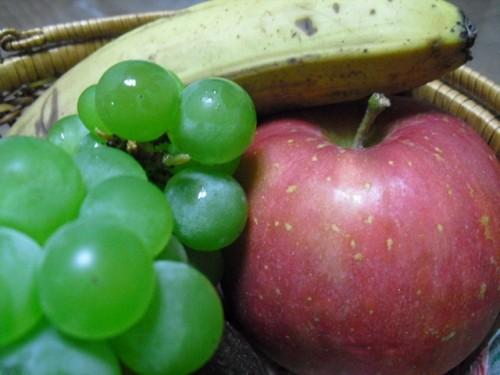 ≪朝の果物は 金≫ なんですね。。