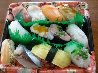 スーパーの寿司弁当