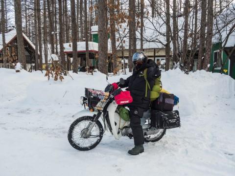 冬のバイクツーリングのお客さんは初めてです。
