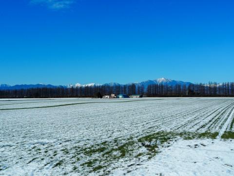 雪化粧の日高山脈~冬の晴天率の高さが移住の決め手!