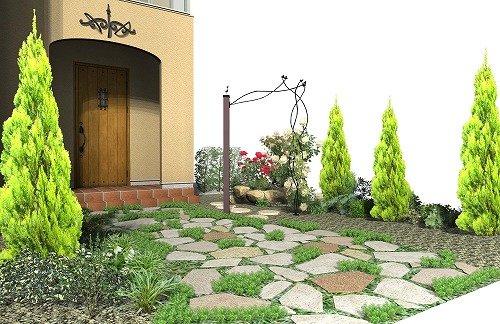 バラを楽しむ庭