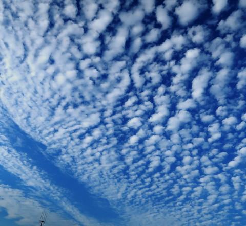 今日の空と