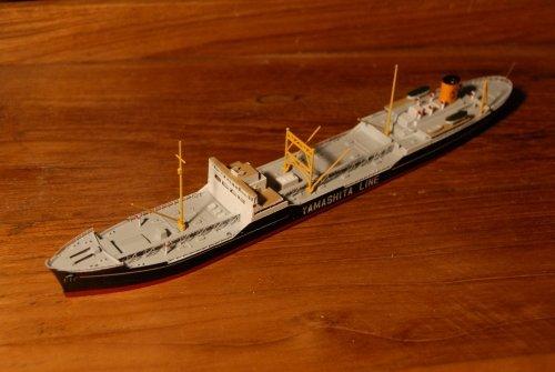 戦前のタンカー『日本丸』を作る・・企画展出展作品から。