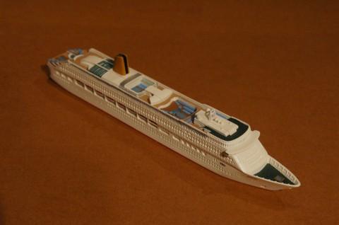 客船『オーロラ(aurora)』・1/1250船舶モデル。
