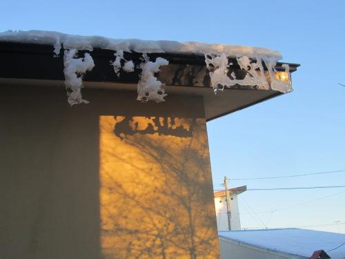 あらっ、おもしー 屋根氷