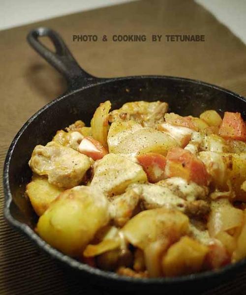 鶏肉と野菜の蒸しロースト