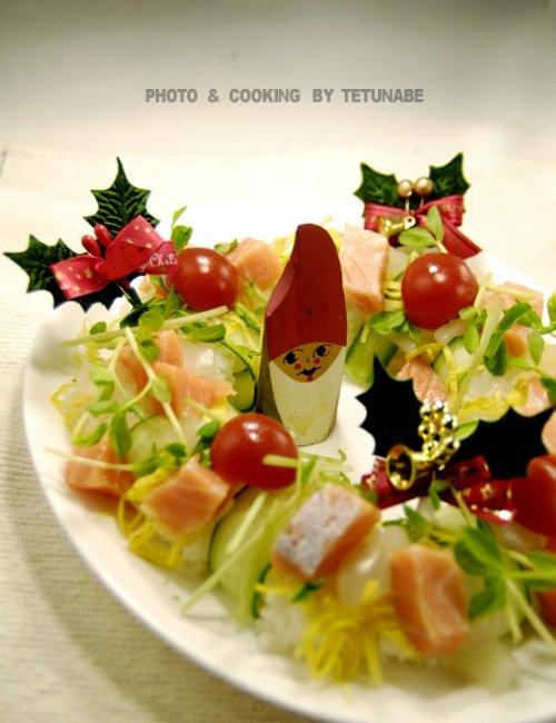 クリスマスは お寿司~