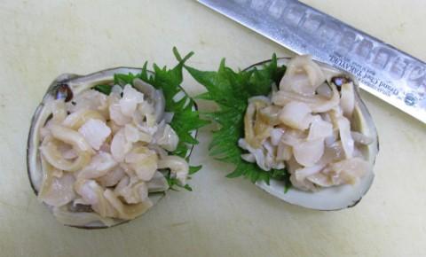北寄貝の刺身