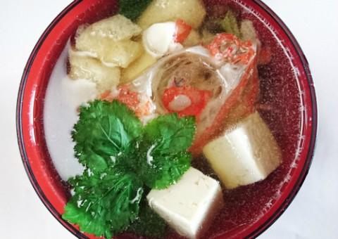 キンキの荒汁と筍ご飯