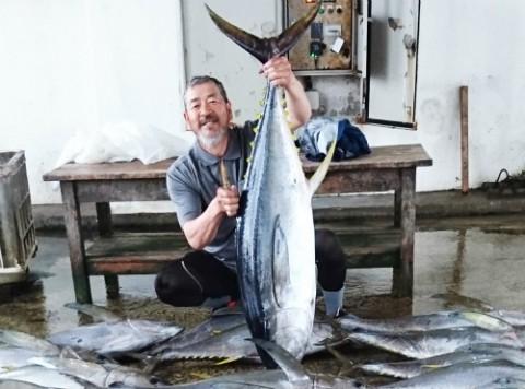 キハダマグロ釣りin久米島