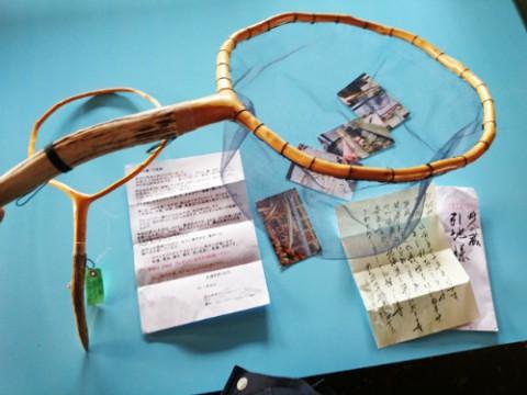 鹿角のタモが岡山県からプレゼント