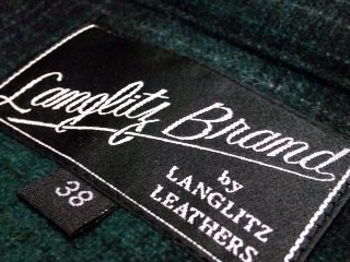 LANGLITZ BRAND / Angola check open shirt.