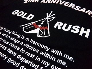 "GOLD RUSH ORIGINAL / 20th Anniversary Tee ""Teepee"""