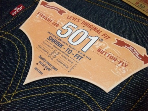 Levi's / 501 RIGID SHRINK-TO-FIT