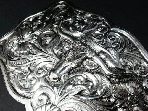 "Gist Silver Smiths / Trophy Buckle ""Longhorn Tradition"""