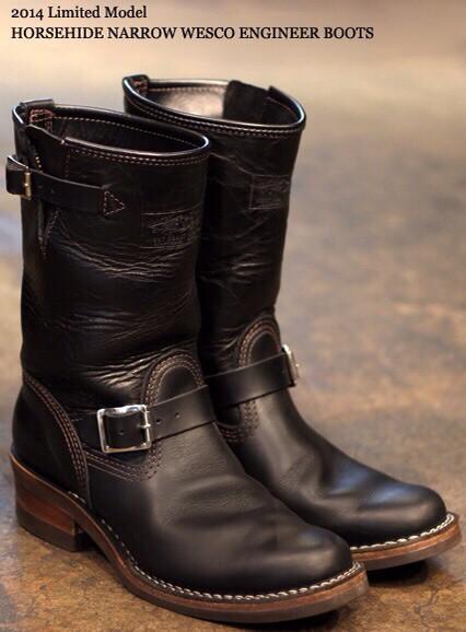 数あるバイカーブーツの中でも絶対的存在の『WESCO』から限定ブーツ入荷!