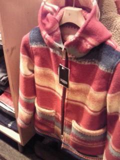 WAPAKONETA Wool Blanket Hood Jacket 。