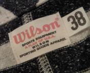Wilson ボーダー Sweat Jacket。