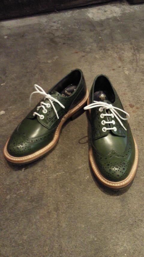 Tricker's/(7292)短靴(ストレートタン) GREEN ANILINE CALF
