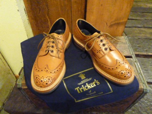 Tricker's/(7292)短靴 ACORN ANTIQUE/NAVYBLUE ANILINE CALF