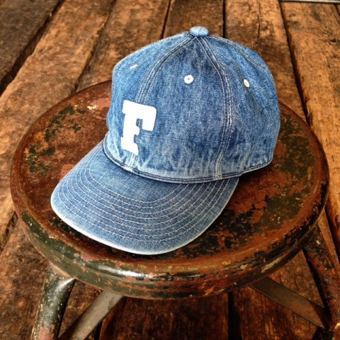 FULLCOUNT DENIM BASEBALL CAP!!
