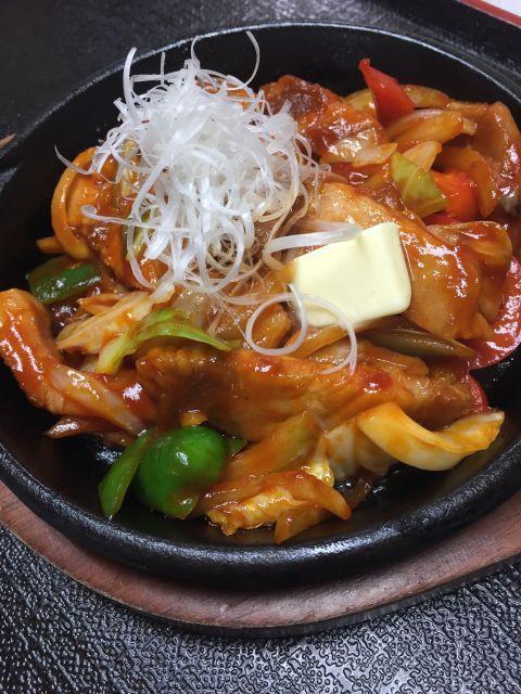 かみこみ豚ポークチャップ定食^^