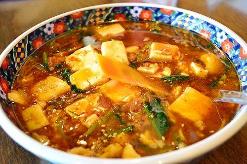 上海柏林台店さんでいただいた「麻婆麺」とか
