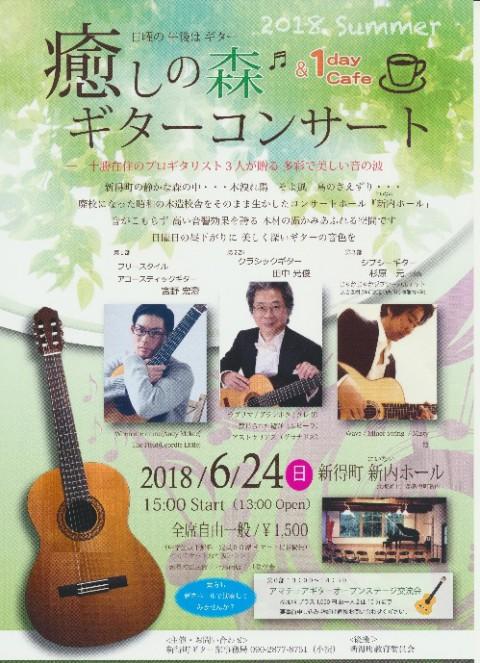 癒しの森 ギターコンサート 2018Summer