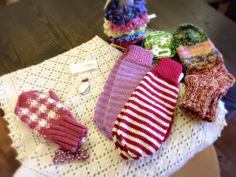 編み物展開催します(11月8日~12日)