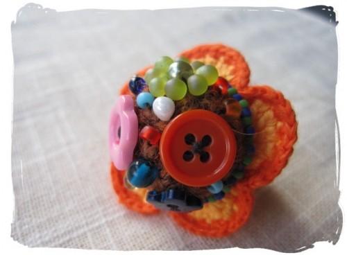 編み編み指輪