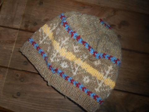 男女兼用、爺婆OKの編み込帽子!