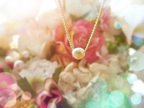 ケシ真珠ぷちっとアクセ(〃∇〃)New
