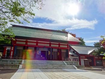 小樽住吉神社にて