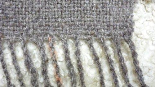 手織りのマフラーと冬のおやつ。