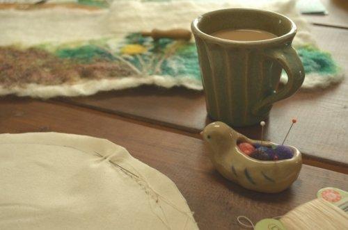 手縫いでいろいろ と 屋久島に旅立つ花コサージュ ・・・*