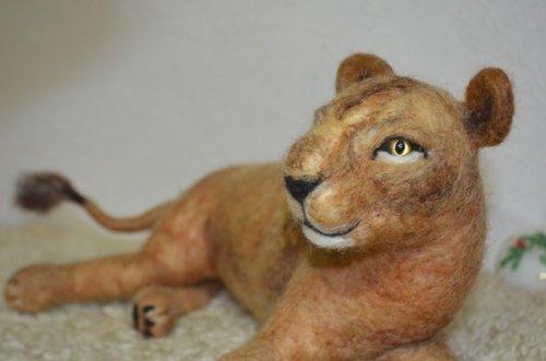 羊毛フェルトのライオン^^