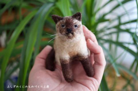 羊毛フェルトで ネコのソラくんjr.^^