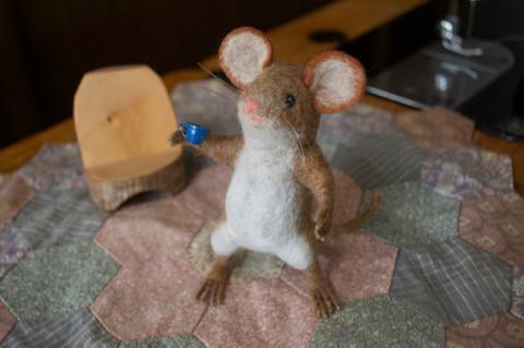 白衣を着たネズミさん?!
