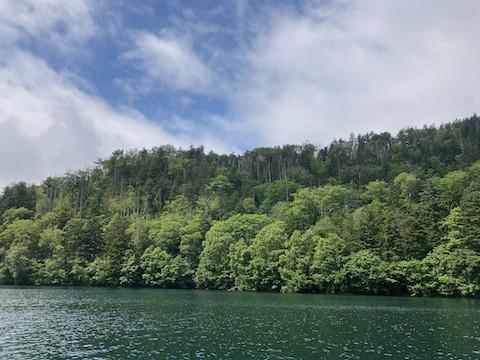 然別湖にて カヌー!