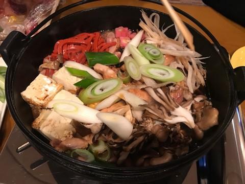 軍鶏鍋〜〜初めて食す