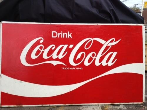 [入荷!!]コカコーラ巨大看板♪ 14000円コカコーラの巨大看板が入荷いたしました♪サイズ 縦