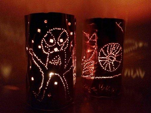 温かなキャンドルの灯 ランプシェイド