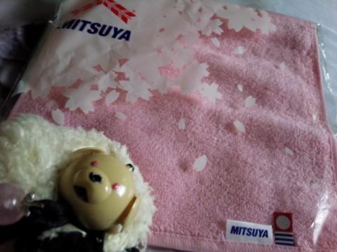 桜のタオル