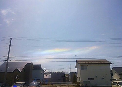 綺麗な雲?虹を発見(・∀・)