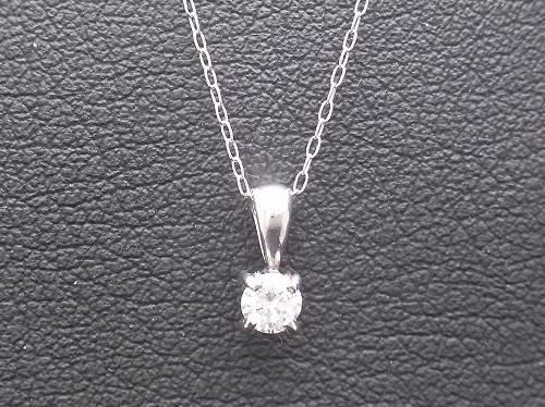 オーダーメイド 大きな1/4カラットのダイヤモンドプラチナネックレス