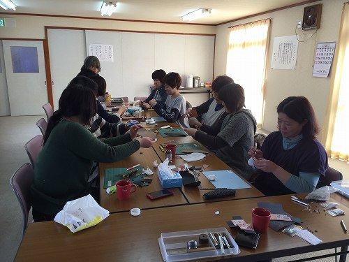 音更町高倉福祉館に出張レザークラフト教室